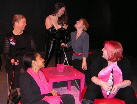 (l to r) Carol V. Calhoun, Lisa Hill-Corley, Lauren Beward, Sam David, and Spencer Kate