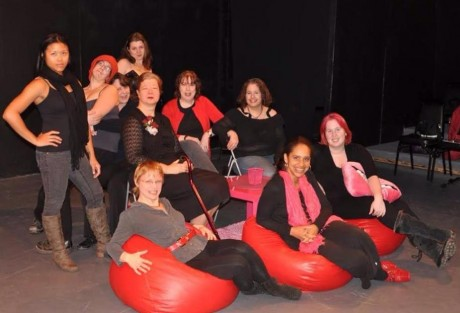 The cast of Rude Mechanicals production of 'The Vagina Monologues.'