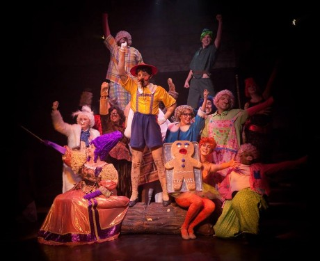 The Fairytale Ensemble of Shrek the Musical at Toby's Dinner Theatre.