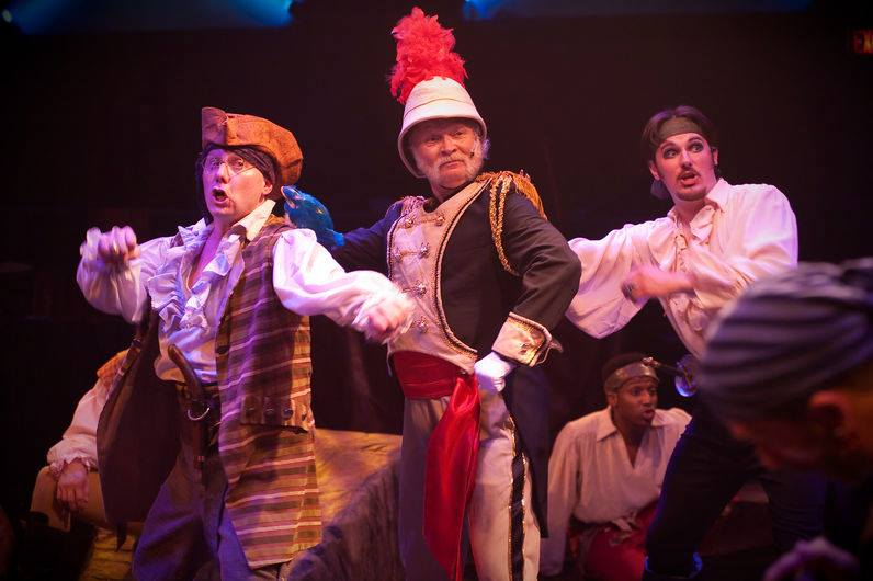 (l to r) Samuel (Jeffrey S. Shankle) Major-General Stanley (Robert John Biedermann 125) and The Pirate King (David Jennings). Photo by Kirstine Christiansen.