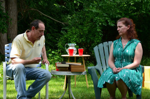 Karl Kendryk (Bob Kleinberg) and Lisa Koletski (Hillary Glass). Photo courtesy of Emily Canavan and John Ward.