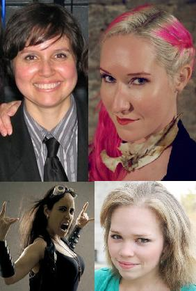 The Ladies who Landless (top left moving clockwise- Director Melissa Baughman. and actors Irene Jericho, Angeleaza Anderson, and Nina Osegueda