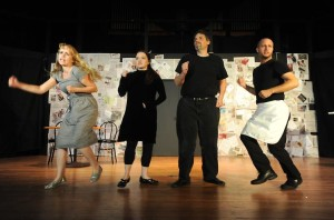 (l to r) Amanda Fossett, Kat McKerrow, Stuart Kazanow, and Andrew Worthington. Photo courtesy of Joshua McKerrow.