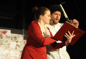 Mrs. Trotsky (L- Kat McKerrow) and Leon Trotsky (R- Peter Eichman) Photo courtesy of Joshua McKerrow.