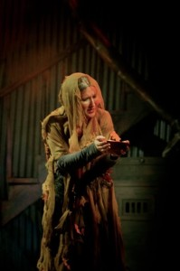 Irene Jericho as The Beggar Woman in Landless Theatre Company's production of Sweeney Todd the Prog Metal Opera