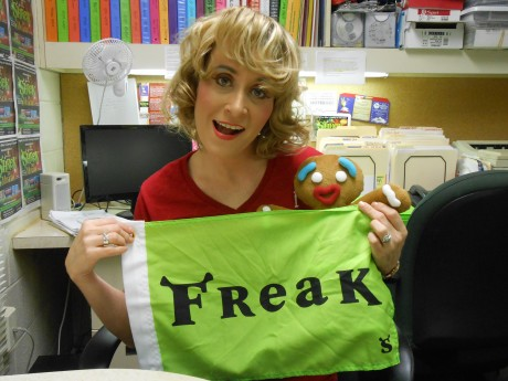 Heather Beck waves her Freak Flag with Gingy.