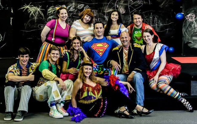 "The company of Pasaden Theatre Company's ""Godspell"""