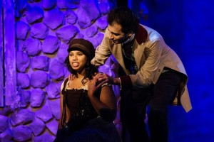 Eponine (L- Christina Bagley) and Marius (R- Henry Cyr) Photo courtesy of Kevin Grall.