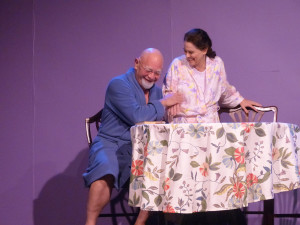 Meyer (L- Jeff Murray) and Clara (R- Annette Mooney Wasno) in Under the Poplar Trees