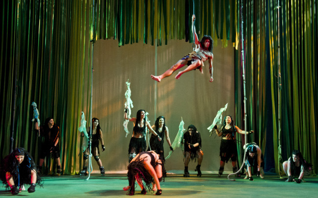 Tarzan (Frankie Rowles) and the Apes