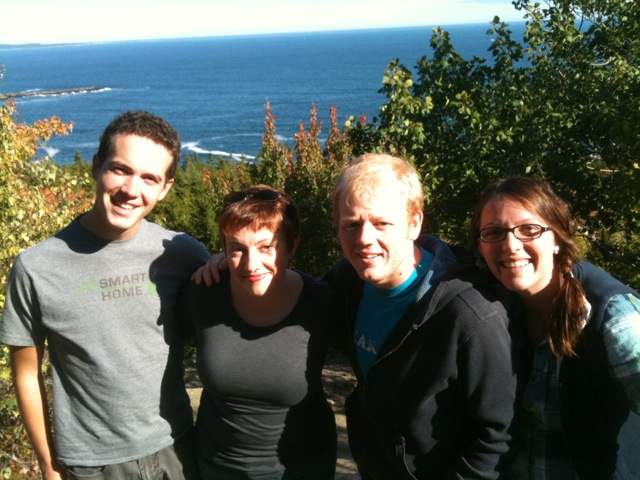 2014 ImprovAcadia Troupe Improvin' around on the Bar Harbor Cliffs!