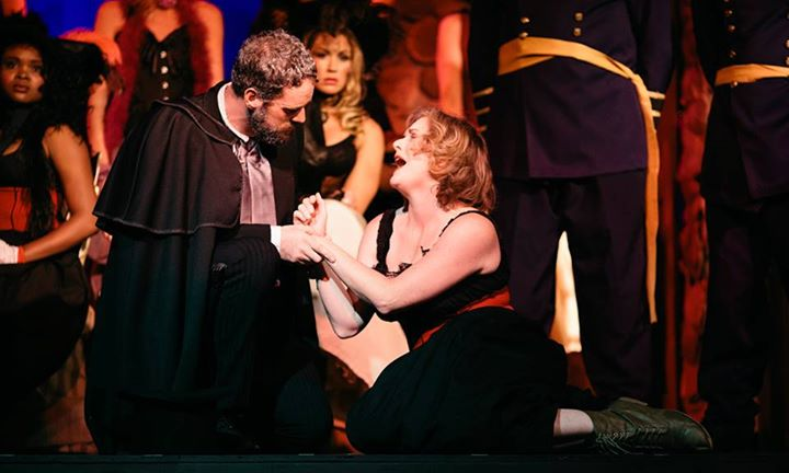 Jean Valjean (L- Tom Zepp) and Fantine (R-Dawn O'Croinin) Photo Courtesy of Kevin Grall.