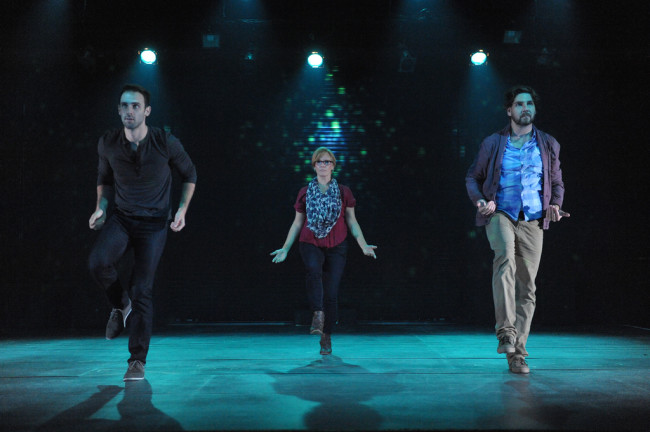 The Understudy at Everyman Theatre. (l to r) Jake (Danny Gavigan) Roxanne (Beth Hylton) and Harry (Clinton Brandhagen)
