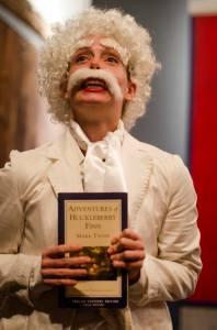 Carly Bales as Mark Twain